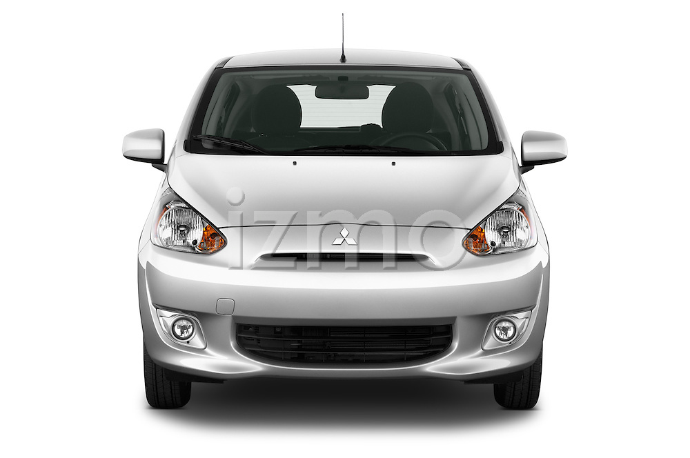 Straight front view of a 2014 Mitsubishi SPACE STAR 5 Door Hatchback 2WD