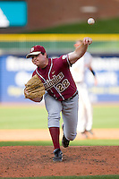 John Gast #22 of the Florida State Seminoles in action versus the Miami Hurricanes at Durham Bulls Athletic Park May 21, 2009 in Durham, North Carolina.  (Photo by Brian Westerholt / Four Seam Images)