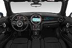Stock photo of straight dashboard view of a 2018 Mini Mini Chilli 2 Door Convertible