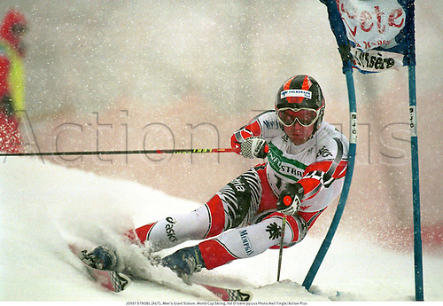 JOSEF STROBL (AUT), Men's Giant Slalom. World Cup Skiing, Val D'Isere 991211 Photo:Neil Tingle/Action Plus...1999.winter sport.winter sports.wintersport.wintersports.alpine.ski.skier.man