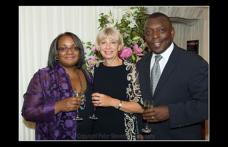 Diane Abbot MP - Sally Banks (Lady Stratford) - Garth Crooks OBE - Tony Banks Memorial - House of Lords, Westminster - 13th July 2006
