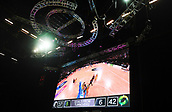 5th October 2017, Spark Arena, Auckland, New Zealand; Constellation Cup, New Zealand Silver Ferns versus Australia Diamonds;   General view of the big screen