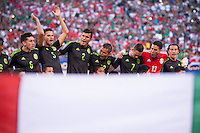 EAST RUTHERFORD, NJ - Sunday July 19, 2015: Mexico takes on Costa Rica  in the quarter-finals of the 2015 CONCACAF Gold Cup at Metlife Stadium in the Meadowlands, home of the New York Jets and Giants.