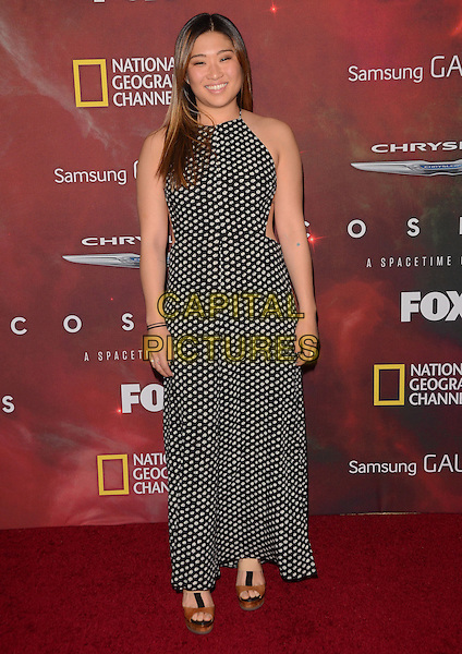 04 March 2014 - Los Angeles, California - Jenna Ushkowitz.  &quot;Cosmos: A Spacetime Odyssey&quot; Premiere Screening at The Greek Theater in Los Angeles. <br /> CAP/ADM/BT<br /> &copy;Birdie Thompson/AdMedia/Capital Pictures