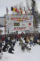 Jeff King Willow restart Iditarod 2008.