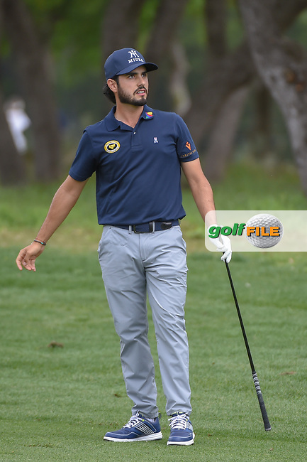 Abraham Ancer (MEX) hits his approach shot on 1 during day 1 of the Valero Texas Open, at the TPC San Antonio Oaks Course, San Antonio, Texas, USA. 4/4/2019.<br /> Picture: Golffile | Ken Murray<br /> <br /> <br /> All photo usage must carry mandatory copyright credit (© Golffile | Ken Murray)