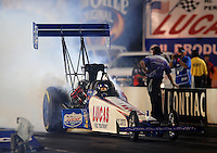 Oct. 31, 2008; Las Vegas, NV, USA: NHRA top fuel dragster driver J.R. Todd during qualifying for the Las Vegas Nationals at The Strip in Las Vegas. Mandatory Credit: Mark J. Rebilas-