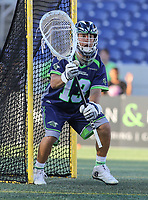 Annapolis, MD - July 7, 2018: Chesapeake Bayhawks Niko Amato (13) in action during the game between New York Lizards and Chesapeake Bayhawks at Navy-Marine Corps Memorial Stadium in Annapolis, MD.   (Photo by Elliott Brown/Media Images International)
