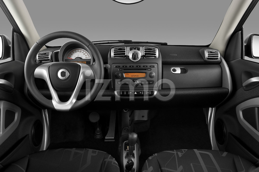 Straight dashboard view of a 2008 Smartfortwo.