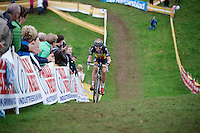 Sven Nys (BEL/Crelan-AAdrinks) in the last lap with a comfortable lead over the competition<br /> <br /> GP Mario De Clercq<br /> Hotondcross 2014