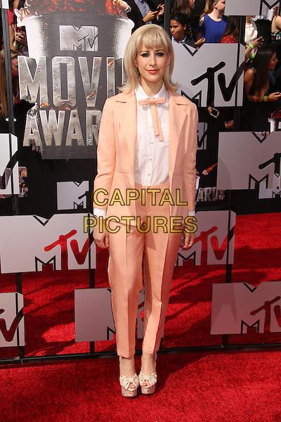 LOS ANGELES, CA - APRIL 13: Rachel Antonoff at the 2014 MTV Movie Awards at Nokia Theatre L.A. Live on April 13, 2014 in Los Angeles, California. <br /> CAP/MPI/JO<br /> &copy;Janice Ogata/MPI/Capital Pictures