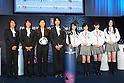 (L to R) .Azusa Iwashimizu (JPN), .Kozue Ando (JPN), .Homare Sawa (JPN), .Saki Kumagai (JPN), .Nogizaka 46, .JUNE 4, 2012 - Football /Soccer : .Official Draw for the FIFA U-20 Women's World Cup Japan 2012 .in Tokyo, Japan. .(Photo by YUTAKA/AFLO SPORT) [1040]