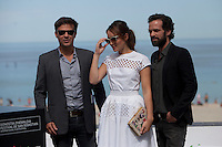 French director Francois Ozon and The French actors  Romain Duris and Anais Demoustier present the film 'The New Girlfriend' during the 62st San Sebastian Film Festival in San Sebastian, Spain. September 20, 2014. (ALTERPHOTOS/Caro Marin) /NortePhoto.com /NortePhoto.com