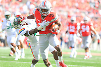 The Ohio State University Football team defeat Hawaii 38-0 in their home opener in the Horseshoe. Columbus, OH September 12, 2015<br /> (Photo By: Walt Middleton)