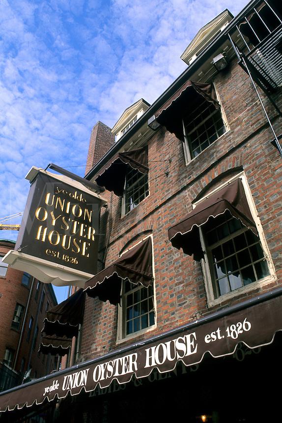 Boston Massachusetts MA USA Freedon Trail Union Oyster House historical Union Street.