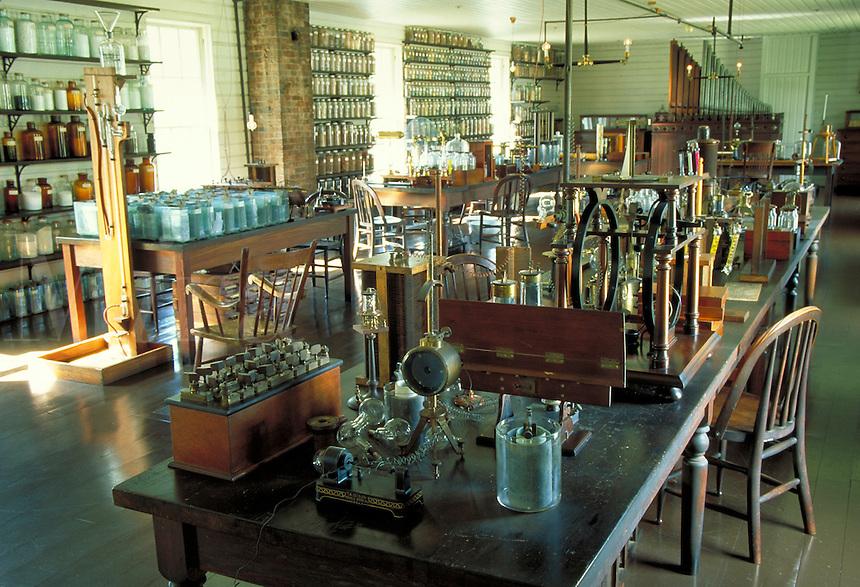 Thomas Edison's Menlo Park Lab replica in Greenfield Village in suburban Detroit, science. Dearborn Michigan USA downtown.