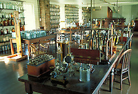 Thomas Edison's Menlo Park Lab replica in Greenfield Village in suburban Detroit, science. Dearborn Michigan USA downtown.