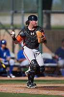 San Francisco Giants Ty Ross (8) during an instructional league game against the Kansas City Royals on October 23, 2015 at the Papago Baseball Facility in Phoenix, Arizona.  (Mike Janes/Four Seam Images)