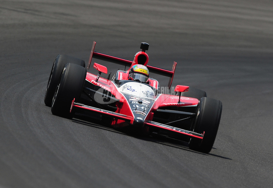 May 30, 2010; Indianapolis, IN, USA; IndyCar Series driver Justin Wilson during the Indianapolis 500 at the Indianapolis Motor Speedway. Mandatory Credit: Mark J. Rebilas-