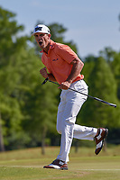 Billy Horschel (USA) reacts to barely missing his birdie putt on 18 during Round 4 of the Zurich Classic of New Orl, TPC Louisiana, Avondale, Louisiana, USA. 4/29/2018.<br /> Picture: Golffile | Ken Murray<br /> <br /> <br /> All photo usage must carry mandatory copyright credit (&copy; Golffile | Ken Murray)