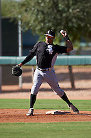 Chicago White Sox Harvin Mendoza (64) during an Instructional League game against the Los Angeles Dodgers on October 15, 2016 at the Camelback Ranch Complex in Glendale, Arizona.  (Mike Janes/Four Seam Images)