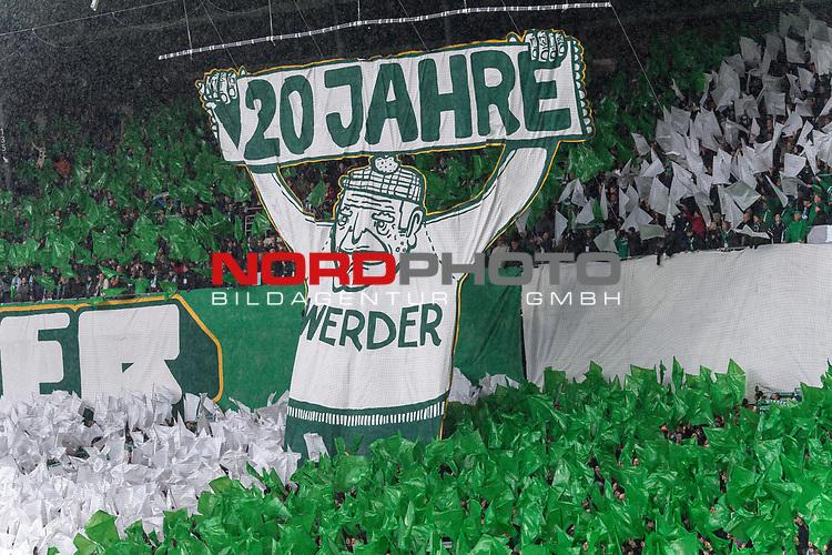 10.02.2019, Weser Stadion, Bremen, GER, 1.FBL, Werder Bremen vs FC Augsburg, <br /> <br /> DFL REGULATIONS PROHIBIT ANY USE OF PHOTOGRAPHS AS IMAGE SEQUENCES AND/OR QUASI-VIDEO.<br /> <br />  im Bild<br /> <br /> 120 >Jshre werder ostkurve<br /> <br /> Foto © nordphoto / Kokenge