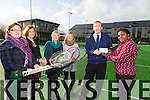 €800 Euro was raised by Tralee Tennis Club through a Coffee Morning held in December, in  memory of Mike Mansfield and in aid of Tralee International Resource Centre. John Finnegan Treasurer Tralee Tennis Club, presented a cheque to Theresa Elumelu ,Family Support Tralee International Resource Centre, here with Denise O'Connell, representing the HSE and Member Tralee Tennis Club, Rosemary Broderick PRO Tralee Tennis Club, Roberta Kneeshaw Chairperson Tralee Tennis Club and Desiree Wassink, Tralee International Resource Centre