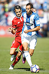 CD Leganes' Victor Diaz (r) and Sevilla FC's Vitolo during La Liga match. October 15,2016. (ALTERPHOTOS/Acero)