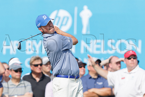 17.05.2013. Irving, Texas, USA.  Matt Kuchar tees off on #17 during the second round of the HP Byron Nelson Championship played at the TPC Four Seasons Resort in Irving, TX.