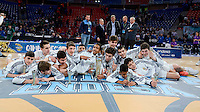 Real Madrid's celebrating the championship  during Finals match of 2017 Mini King's Cup at Fernando Buesa Arena in Vitoria, Spain. February 19, 2017. (ALTERPHOTOS/BorjaB.Hojas) /NortEPhoto.com