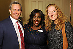 "From left: Scott Brown, Nsen Bua and Sherry Brown at the Young Life gala ""Forward: Sharing Hope with the Next Generation"" at the River Oaks Country Club Thursday Feb. 01,2018. (Dave Rossman Photo)"