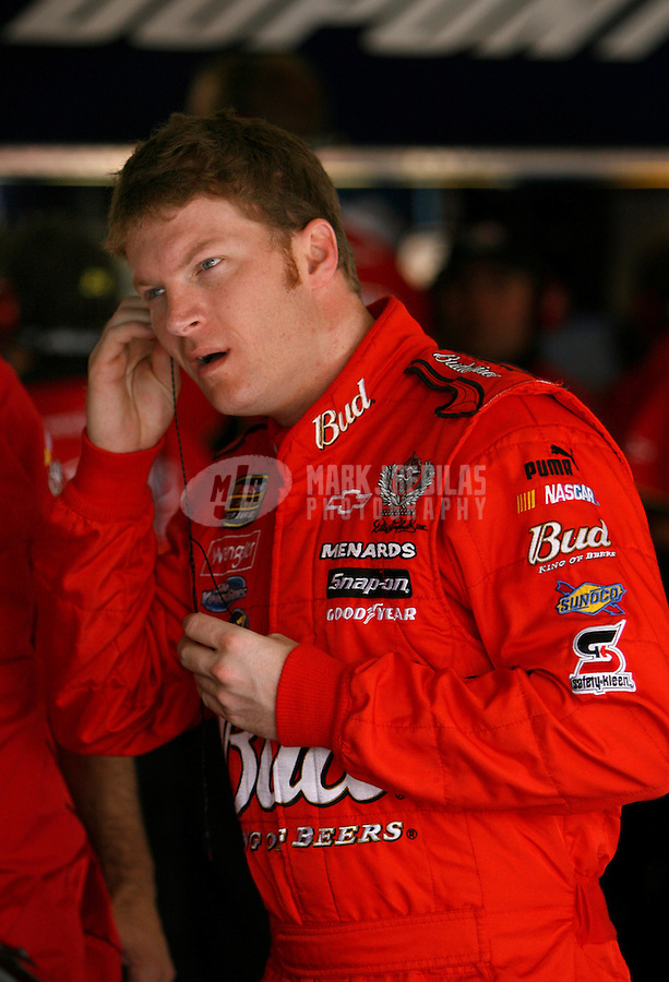 May 25, 2006; Charlotte, NC, USA; Nascar Nextel Cup driver Dale Earnhardt Jr (8) during practice for the Coca Cola 600 at Lowes Motor Speedway. Mandatory Credit: Mark J. Rebilas