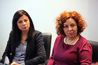 Pictured: Elona Gjebrea (R), Deputy Minister and National TBH Co-ordinator of Albania Thursday 02 March 2017<br /> Re: Multi-agency Wales and Albania Anti-Slavery Meeting discussing issues of people trafficking by organised gangs, Cardiff, UK