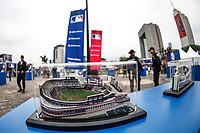 Aspects of the Fan fest of the Major Leagues of Besbol held in the Monumental Plaza of Monterrey Nuevo Leon, prior to the Series in Mexico with the Dodgers match of Los Angeles against San Diego Padres to be held at the Sultans Stadium. May 4, 2018<br /> <br /> Aspectos del Fan fest de las Ligas Mayores del Besbol realizado en la plaza Monumental de Monterrey Nuevo Leon, previo a la Serie en Mexico con el partido de Dodgers de Los Angeles contra Padres de San Diego a realizarse en Estadio de los Sultanes. 4 de Mayo 2018 <br />  <br /> <br /> Previo al partido de los Dodgers de Los Angeles vs Padres de San Diego, durante el primer juego de la serie las Ligas Mayores del Beisbol en Monterrey Mexico a 4 de Mayo 2018....<br /> <br /> (Photo: /Luis Gutierrez)