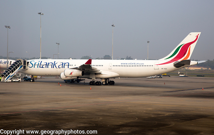 Sri Lankan Airways plane, Bandaranayake International Airport, Colombo, Sri Lanka, Asia