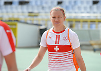 20180305 - LARNACA , CYPRUS : Swiss Lara Dickenmann pictured during a women's soccer game between Switzerland and Wales , on monday 5 March 2018 at GSZ Stadium in Larnaca , Cyprus . This is the third game in group A for Switzerland and Wales during the Cyprus Womens Cup , a prestigious women soccer tournament as a preparation on the World Cup 2019 qualification duels. PHOTO SPORTPIX.BE   DAVID CATRY