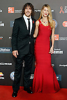 FC Barcelona's ex player Carles Puyol and his girlfriend Vanessa Lorenzo during Barcelona 5th AIDS Ceremony. November 24,2014.(ALTERPHOTOS/Acero) /NortePhoto<br />
