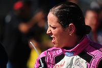 RIO DE JANEIRO, RJ, 21 DE JULHO 2012 - MERCEDES-BENZ GRAND CHALLENGE - 4ª ETAPA - RIO DE JANEIRO - A piloto Michelle de Jesus, após conquistar o quinto lugar na primeira corrida da 4ª etapa do Mercedes-Benz Grand Challenge, disputado no Autodromo Internacional Nelson Piquet, Jacarepagua, Rio de Janeiro, neste sábado, 21. FOTO BRUNO TURANO  BRAZIL PHOTO PRESS