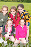 In good form at the fun day at the sport grounds in Lyrecrompane on Sunday were front l-r Karen Moloney and Eikish O'Regan.  Back l-r Aisling Keane, Lorraine Nash and Emma Lyons..   Copyright Kerry's Eye 2008