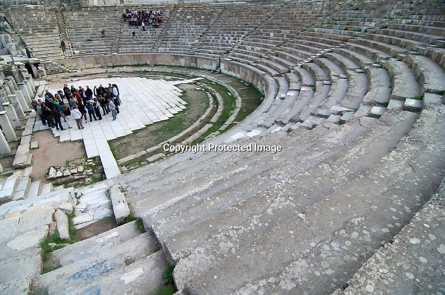 TURQUIA-EFESO.Vista del Teatro Romano que se conserva dentro del conjunto artistico de la epoca Helenistica en la ciudad clasica de Efeso . foto JOAQUIN GOMEZ SASTRE©