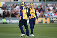 Adam Zampa of Essex celebrates taking the wicket of Ed Byrom during Essex Eagles vs Somerset, Vitality Blast T20 Cricket at The Cloudfm County Ground on 7th August 2019