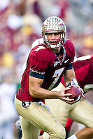 October 31, 2009:   Florida State quarterback Christian Ponder (7) prepares to hand off during Atlantic Coast Conference action between the North Carolina State Wolfpack and Florida State Seminoles at Doak Campbell Stadium in Tallahassee, Florida.