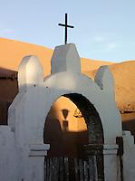 Town church at sunrise in San Pedro de Atacama, Atacama Desert, Chile