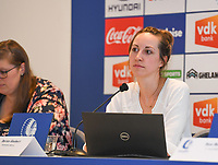 20190819 – GENT, BELGIUM : Gent's performance advisor Dorien Goubert pictured during a pre-season press conference presenting the new players  , new staff and new methods for the next season 2019-2020 for the AA Gent Ladies in the Belgian top division – The Superleague -  , Monday 19 th August 2019 at the Ghelamco Stadium in GENT  , Belgium  .  PHOTO SPORTPIX.BE | DAVID CATRY