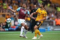 Burnley's Aaron Lennon and Wolverhampton Wanderers' Jonny<br /> <br /> Photographer Rachel Holborn/CameraSport<br /> <br /> The Premier League - Wolverhampton Wanderers v Burnley - Sunday 16th September 2018 - Molineux - Wolverhampton<br /> <br /> World Copyright &copy; 2018 CameraSport. All rights reserved. 43 Linden Ave. Countesthorpe. Leicester. England. LE8 5PG - Tel: +44 (0) 116 277 4147 - admin@camerasport.com - www.camerasport.com