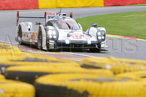 01.05.2015.  Spa-Francorchamps, Belgium. World Endurance Championship Round 2 Qualifying. Porsche Team LMP1 Hybrid Porsche 919 driven by Timo Bernhard, Mark Webber and Brendon Hartley.