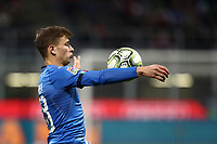 Football: Uefa Nations League Group 3match Italy vs Portugal at Giuseppe Meazza (San Siro) stadium in Milan, on November 17, 2018.<br /> Italy's Niccol&ograve; Barella in action during the Uefa Nations League match between Italy and Portugal at Giuseppe Meazza (San Siro) stadium in Milan, on November 17, 2018.<br /> UPDATE IMAGES PRESS/Isabella Bonotto