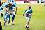 St Johnstone v Rangers&Ouml;21.05.17     SPFL    McDiarmid Park<br /> Liam Craig wih his children, Calvin and <br /> Picture by Graeme Hart.<br /> Copyright Perthshire Picture Agency<br /> Tel: 01738 623350  Mobile: 07990 594431