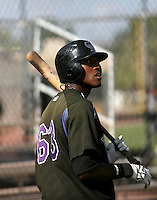 Delta Cleary / Colorado Rockies 2008 Instructional League..Photo by:  Bill Mitchell/Four Seam Images