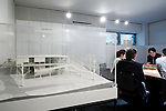 Tokyo, June 25 2013 - At Sakakura Associates achitecture office, a model in a meeting room of the Japanese Pavillon of the 1937 Paris Exposition.